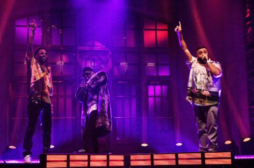 DJ Khaled Performs SNL's Season Finale with VIP Entourage